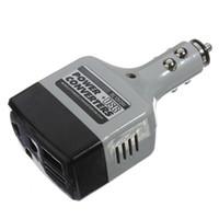 Wholesale Car Power Converter Inverter Adapter - Wholesale-1pcs DC 12   24V to AC 220V   USB 6V Car Mobile Power Inverter Adapter Auto Car Power Converter Charger