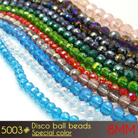 Barato al por mayor o al por menor personalizado de embalaje bolas de discoteca de cristal de China bolas de 8 mm colores especiales A5003 72pcs / set