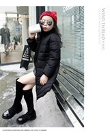 2017 hot fashion girl downs ente down mädchen parkas oansatz lange daunenjacke für mädchen kinder taschen daunenmantel niedlichen baby mädchen neu