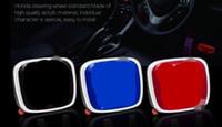 Wholesale emblem honda - Car Steering Wheel Emblem Badges Sticker Symbols Cover Black Blue Red For H All Cars