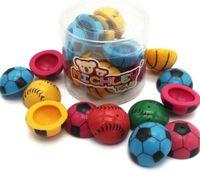 "Wholesale Wholesale Boys Items - MICHLEY 12pcs 1.2"" Baby Girls Boys Poppers Half Bouncing Balls Pattern of Football Sport Toys ZJ-010"