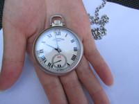 смотреть мужчин оптовых-CHP L. U. C LUC высокое качество 46 мм мужские часы 2 в 1 двойного назначения карманные + наручные часы Карманные часы механические ручной подзавод часы
