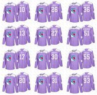 Wholesale Brown Cancer - 2018 Fights Cancer New York Rangers Mats Zuccarello Henrik Lundqvist J.T. Miller McDonagh Chris Kreider Fast Hayes Zibanejad Nash Jerseys