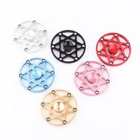 Wholesale Wholesale Sports Horns - Fire Wheel Six stars six horns Fidget Spinner Hot Wheel Hand Spinner Metal Finger Gyro Spinning Top Decompression Toys