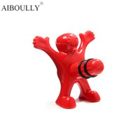 Wholesale Gag Stopper - Wholesale- Funny Happy Man ABS Wine Stopper Prank Toy Grownups Gag Toys Novelty Perky Interesting Gifts