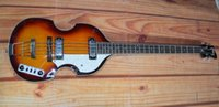 Wholesale Sunburst Bass - hot sale 4 string bass guitar BB2 sunburst color Flamed malpe body strap pin with free shipping