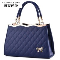Wholesale Online Handbag Shopping - Wholesale- Luxury Color Shop Online Womens Designer Handbags With Logo Famous Brand High Quality Top-handle PU Women Messager Handbags