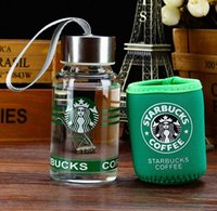 Wholesale Thermos Cups For Coffee - 2017 new 145ml starbucks famous coffee brand logo water thermos cup glass my bottle portable cups for lovers children mug