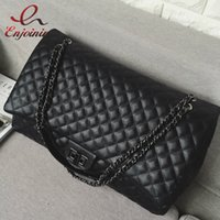 Wholesale Classic Design Handbag - Wholesale-New arrival 2016 fashion classic design pu leather Quilted chain shoulder bag large-capacity black women's handbag shopping bag