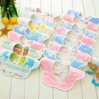 Wholesale Cotton Gauze Bibs - 360-degree rotation six-layer gauze bibs mushrooms double-buttoned cotton bibs newborn baby saliva towel wholesale 18 style.