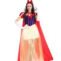 Wholesale Carnival Uniforms Adults - New Design Yellow Princess Elegant Sweet Girl Fancy Dress Halloween Costume Party Carnival Adult Women Uniforms Clubwear W531814