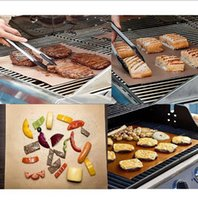 Wholesale Electric Ovens - DHL free Copper Grill Mat Barbecue Grilling Liner BBQ Portable Non-stick Reusable Oven Hotplate Mats Outdoor Picnic Cooking Barbecu