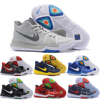Wholesale Cheap Indoor Woman - 2018 Cheap Kyrie 3 Basketball Shoes Men Women Orange Crossover Huarache Cavs Kyrie Irving 3s III Basketball Sports Shoes Replicas Sneakers