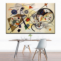 Wholesale Paintings Kandinsky - ZZ1169 Geometry Design Wassily Kandinsky Art Canvas Print Painting Poster, Wall Pictures For Living Room, Home Geometric Decor