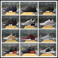 Wholesale Best Low Cut Casual Shoes - 2017 Best Quality PW HU NMD XR1 Pharrell Williams Human Race Boost Off White Humanrace Casual Shoes Laces size 36-45