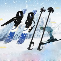 Wholesale Ski Freestyle - Kids Begineer Ski Sets Outdoor Sports Tool Children Junior Snowboard Skiing Skis Board Binding With Ski Pole Youth Gifts