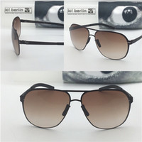Wholesale N Glasses - Germany designer brand sunglassesIC guenther n ultra-light without screw memory alloy glasses removable stainless steel metal square frame