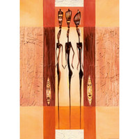 Abstract oil paintings Ceremonial Dancers I by Alfred Gockel Canvas art decoração pintada à mão