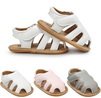Wholesale Summer Baby Infant Girl Bottoms - Baby sandals summer new baby boys girls hollow soft bottoms sandals children shoes Infant Toddler kids soft leather non-slip sandals A0752