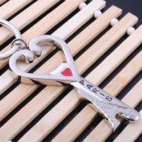 girls paris Australia - Funny Heart Paris Eiffel Tower Shape Bottle Opener Metal Alloy Keychain Key Chain Keyring Car Keychains Best Gift