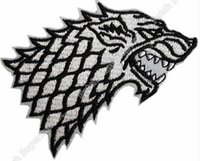 Wholesale Wholesale Logo Game - Game of Thrones STARK House Movie TV FILM Embroidered LOGO Iron On Patch applique badge clothes deco diy bag outdoor