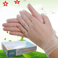 Wholesale Medical Gloves Wholesalers - (10 box batch) Food grade disposable PVC gloves   dental medical rubber plastic   anti-static food anti-oil beauty hand membrane