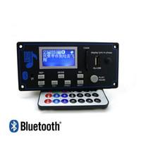 decodificador 12v venda por atacado-Venda por atacado - 12V Lyric Show Display LCD Bluetooth MP3 Decodificação de Placa FM Remote Folder Shift Interruptor LRC WMA WAV Decoder