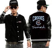 Wholesale black diamond jacket - free shipping Crooks and Castles jackets sweatshirts Crooks diamond clothing winter autum new sweats cotton hip hop style 2017 new