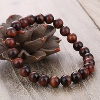 Wholesale Traditional Tiger - Natural Red Tiger Eye Bracelet 8mm Beads Red Tiger Eye Stone Bracelets for Men Women Stretch Bracelet Jewelry Accessories B674S