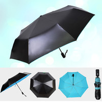 Wholesale Double Golf Umbrella - Automatic windproof double layer Umbrella Open Golf Umbrella Extra Large Oversize Canopy Vented Waterproof Stick Umbrellas