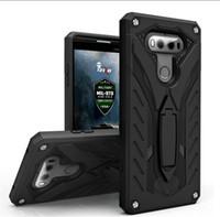 Wholesale Stylus Stand - Hybrid Heavy Duty Defender Shockproof Cover with Kickstand holder Stand case For LG G6 G5 Stylus 3 2 Plus LV3 MS210 LV5 k10 2017 V20 K10 K8