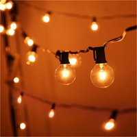 Wholesale Vintage Christmas Garlands - Patio Lights G40 Globe Party Christmas String Light,Warm White 25Clear Vintage Bulbs 25ft,Decorative Outdoor Backyard Garland