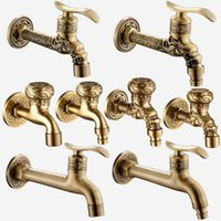 Wholesale Mop Machines - Decorative Outdoor Faucet Garden Bibcock Tap Bathroom Washing Machine  mop Faucet Free Shipping