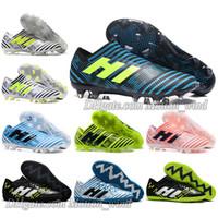 Wholesale Soccer Indoor Shoes Messi - Mens Football Boots NEMEZIZ 17.1 FG AG Soccer Shoes Tango 17.3 IC TF Messi NEMEZIZ 17 360 Agility Superfly Soccer Cleats