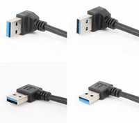 HOT Universal 15cm USB Extension Cable USB 3.0 Mâle A à Femme A 90 Degree Extension Data Sync Cord Cable Wire Adapter