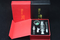 Wholesale Gift Boxes Straws - 2016 Nectar Collector With Showerhead Perc Mini Honey Dab Straw Mini Dab Rigs with Gift Box Grade 2 Titanium Nail 10mm NC01