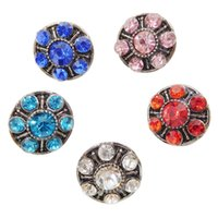 B1011 Vente en gros pas cher 12mm Mini Noosa Crystal Chunks Copper Ginger Snap Button Bracelet Bricolage Brand New Jewelry