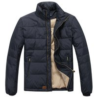 Wholesale New down jacket more young men brief paragraph collar business casual male white duck down coat