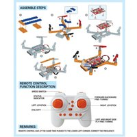 Wholesale Ufo Aircraft Toy - Wholesale- 18pcs DIYBlocks Flying Assembly Remote Control 2.4G 4CH UFO RC Aircraft Quadcopter Drone Toy Q20 AUG25