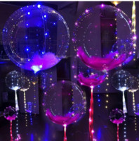 Wholesale New Decorative Led Light - New Arrival Bright LED Transparent BOBO Balloon Flashing Halloween Party Decoration Wedding Or Brithday Party Transparent Confetti Balloon