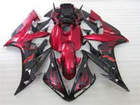 yzf r1 kaplama alevi alev toptan satış-3 hediye Yeni Sıcak ABS motosiklet Fairing kitleri Için 100% Fit 2004 2005 2006 YAMAHA YZF R1 YZF-R1 2004-2006 YZFR1 YZFR1 04 06 Siyah Kırmızı alev
