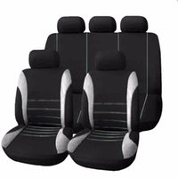 Wholesale Protect Car Interior - 2016 Universal Car Seat Cover 9 Set Full Seat Covers for Crossovers Sedans Auto Interior Styling Decoration Protect High Quality