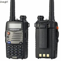 2pcs / lot walk talk Baofeng UV-5RA para a polícia Walkie Talkies Scanner Radio Vhf Uhf Dual Band Cb Presente transceptor de rádio 136-174