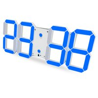 Grossiste-Télécommande Grande LED Digital Horloge Murale Design Moderne Décoration Décoration 3D Grande Décorative Montre
