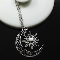 Wholesale United Life - Europe and the United States Necklace movie of ice and fire around my life the moon, the sun and stars pendants alloy necklace