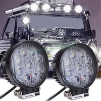 Wholesale Bar Light Camping - 27W LED Work Flood Round Light 12V 24V Bar Boat Tractor Truck Off-road SUV Camping Security