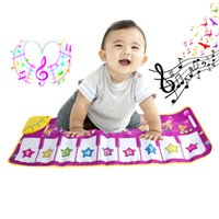 Wholesale Pink Piano Keyboard - Wholesale- New 1Pc Hot Pink Children Baby Play Gift Touch Musical keyboard Singing Animal Carpet Mat Piano Toy