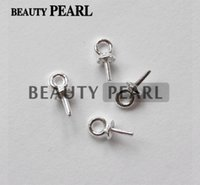 Wholesale Beads Connectors Silver - 100 Pieces Wholesale Beads End Connectors for Charms DIY Pearl Findings 925 Sterling Silver Bead Caps