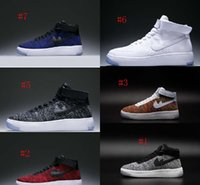 Wholesale Shoes Mans Air 87 - Air one men women sports casual shoes high top air 1 one UNISEX flywire mesh mens womens outdoor SHOES racer 87 9 36-45 hy free shipping