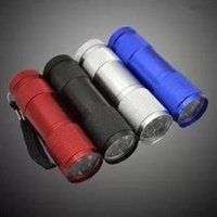 Wholesale Best Hunting Lamps - 9 LED Torch 300LM Mini Flashlight 4 Colors LED Camping Torch Flashlights Lamp 3AA Battery Powered Torches Portable Lighting Best Price